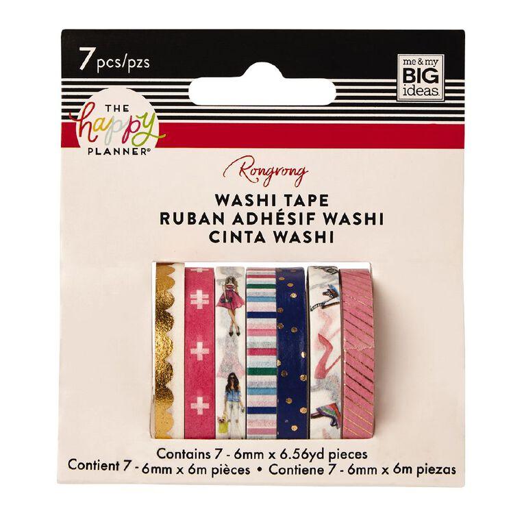 Me & My Big Ideas Washi Tape 6mm x 6m Fashion 7 Pack, , hi-res