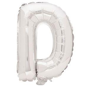 Artwrap Foil Balloon D Silver 35cm