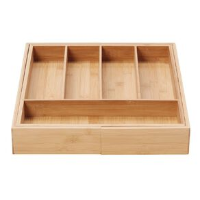 Living & Co Naturals Bamboo Expandable Cutlery Tray