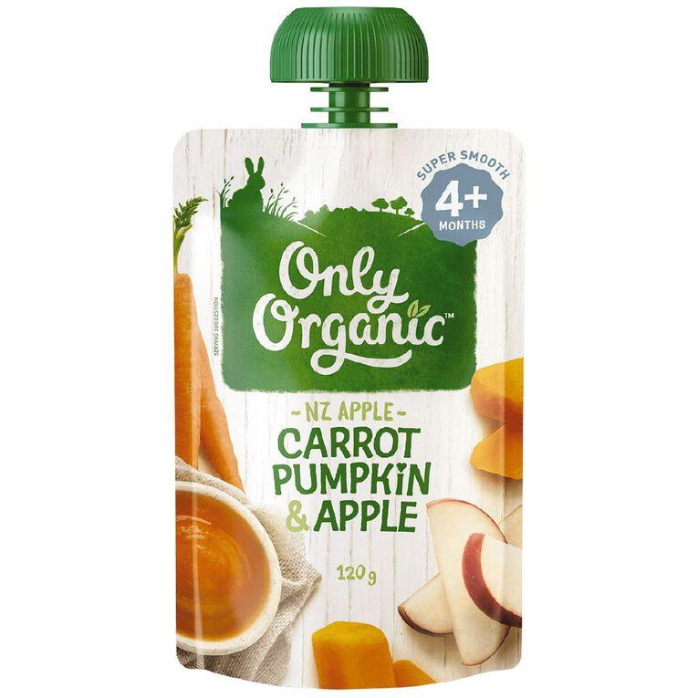 Only Organic Carrot Pumpkin & Apple 120g, , hi-res