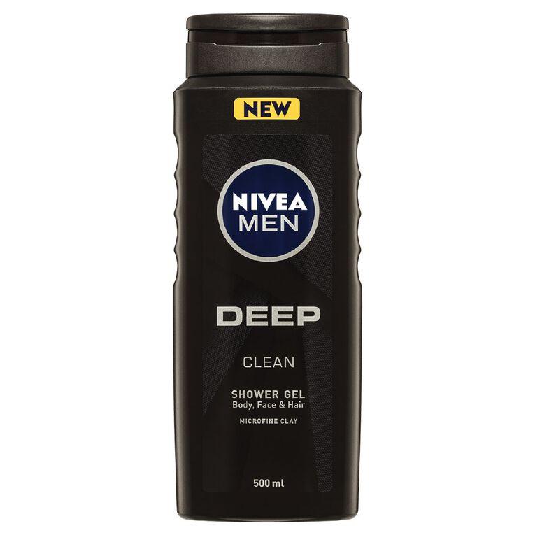 Nivea Men Shower Gel Deep 500ml, , hi-res