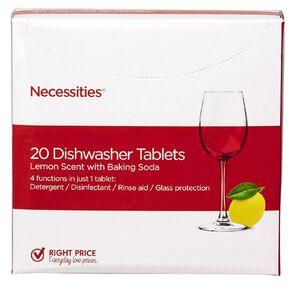 Necessities Brand Auto Dishwasher Tabs 20 Pack
