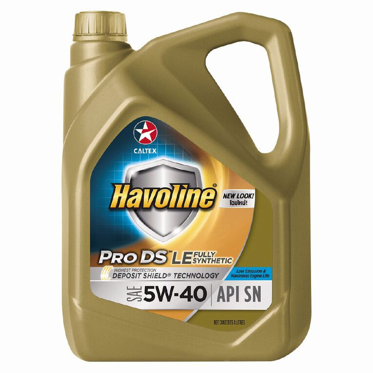 Caltex Havoline Engine Oil Fully Synthetic 5W-40 4L 4L, , hi-res