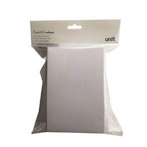 Uniti Cards & Envelopes White 50 Pack