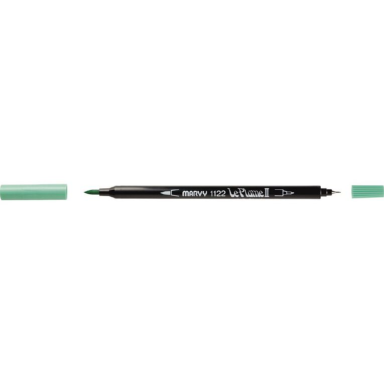MARVY Le Plume II Dual Tip Marker Pale Green, , hi-res