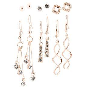 Diamante Ball Swirl Earrings