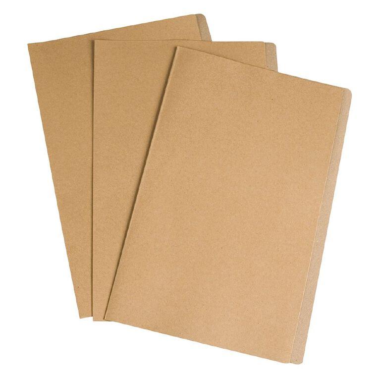 Esselte File Folders Card FS Kraft PK10, , hi-res