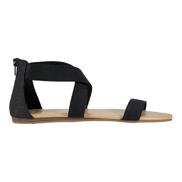 H&H Stretch Strap Sandals, Black, hi-res image number null