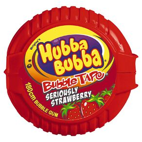Hubba Bubba Seriously Strawberry Bubble Gum Tape 180cm