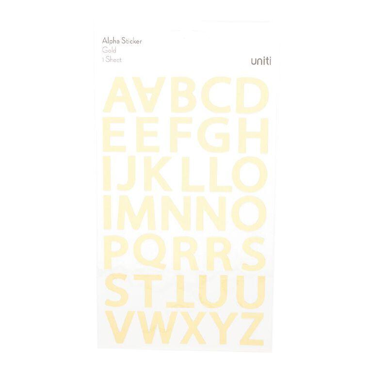 Uniti Alpha Stickers Foil Gold, , hi-res