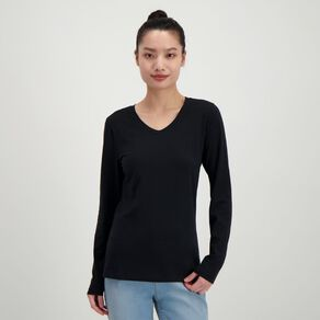 H&H Women's Long Sleeve V Neck