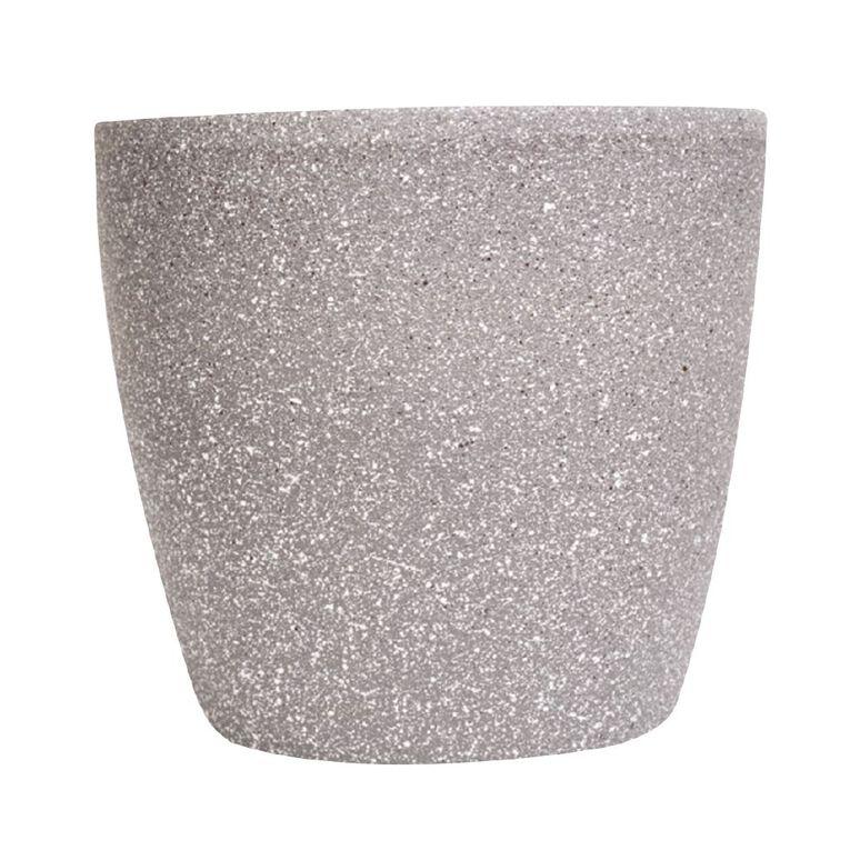 Kiwi Garden Sandstone Plastic Pot Grey 28cm, , hi-res