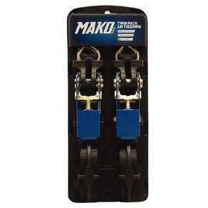 Mako Ratchet Tiedown 25mm x 4m 2 Pack