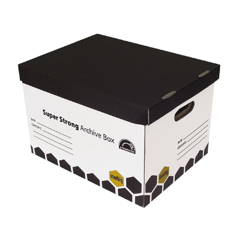 Marbig Super Strong Archive Retail Box 2 Pack White, , hi-res