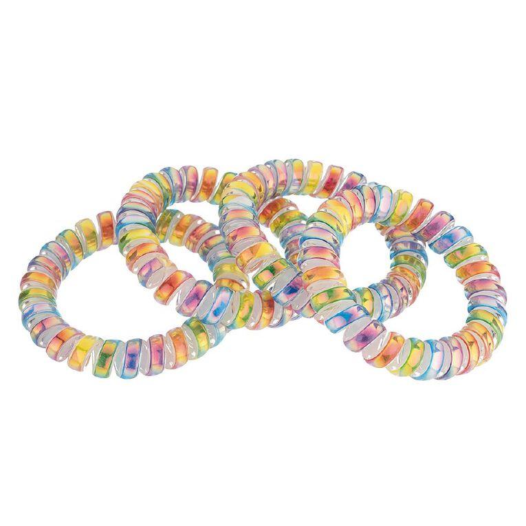 Kids Spiral Elastic Tie, Multi-Coloured, hi-res