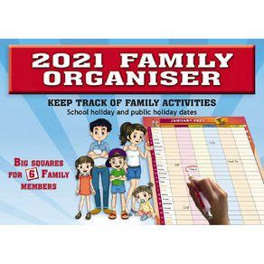 Bartel 2021 Big Print Wall Calendar 304x215mm Family Organiser