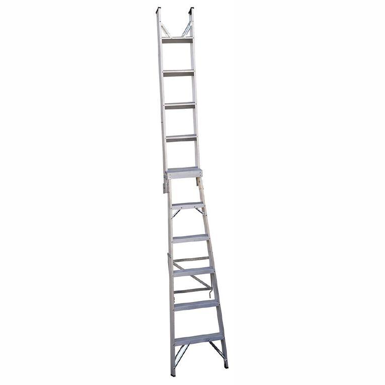 Bulldog 6 Step Dual Purpose Ladder 1.8m - 3.3m, , hi-res