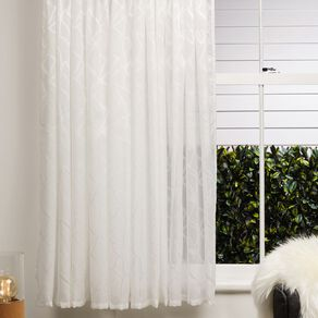 Living & Co Swirl Voile White 90-180 x 200cm Drop