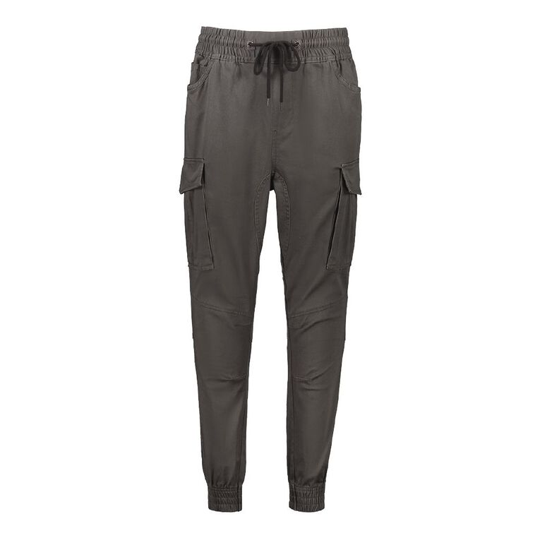 H&H Men's Woven Cargo Jogger Pants, Grey Dark, hi-res