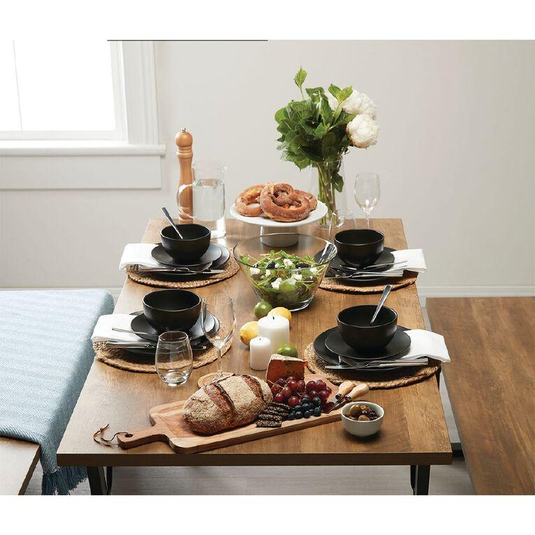 Living & Co Matte Coast Dinner Plate Black, , hi-res
