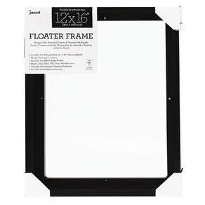 Jasart Floater Frame Thick Edge 12x16 Inches Black