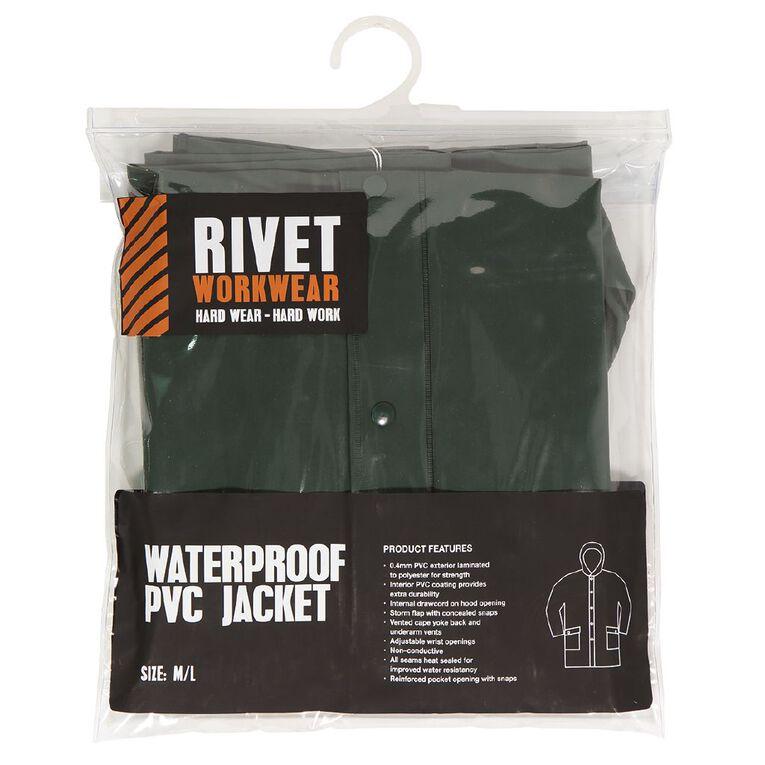 Rivet PVC Rain Jacket, Green, hi-res image number null