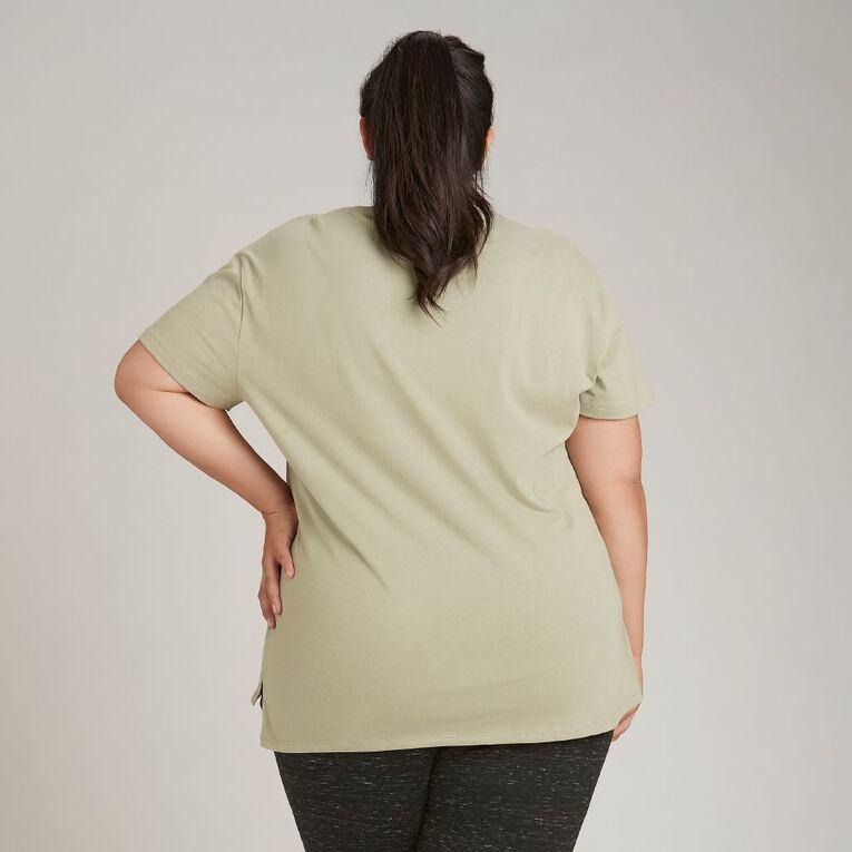 H&H Plus Women's Boyfriend Tee, Green Light, hi-res image number null