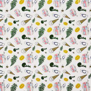 WS Book Cover Kiwiana 45cm x 1m