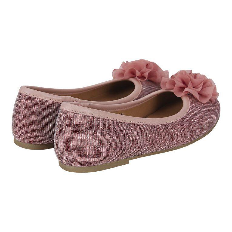 Young Original Girls' Flower Ballet Shoes, Pink, hi-res