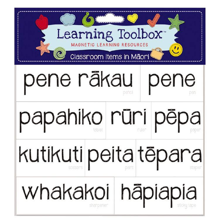 Learning Tool Box Magnetic NZ Maori Class Times Assorted, , hi-res