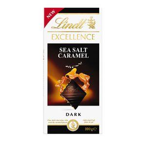 Lindt Excellence Sea Salt Caramel Block 100g