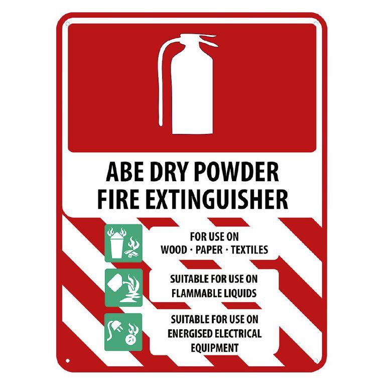WS ABE Dry Powder Extinguisher Sign Large 600mm x 450mm, , hi-res