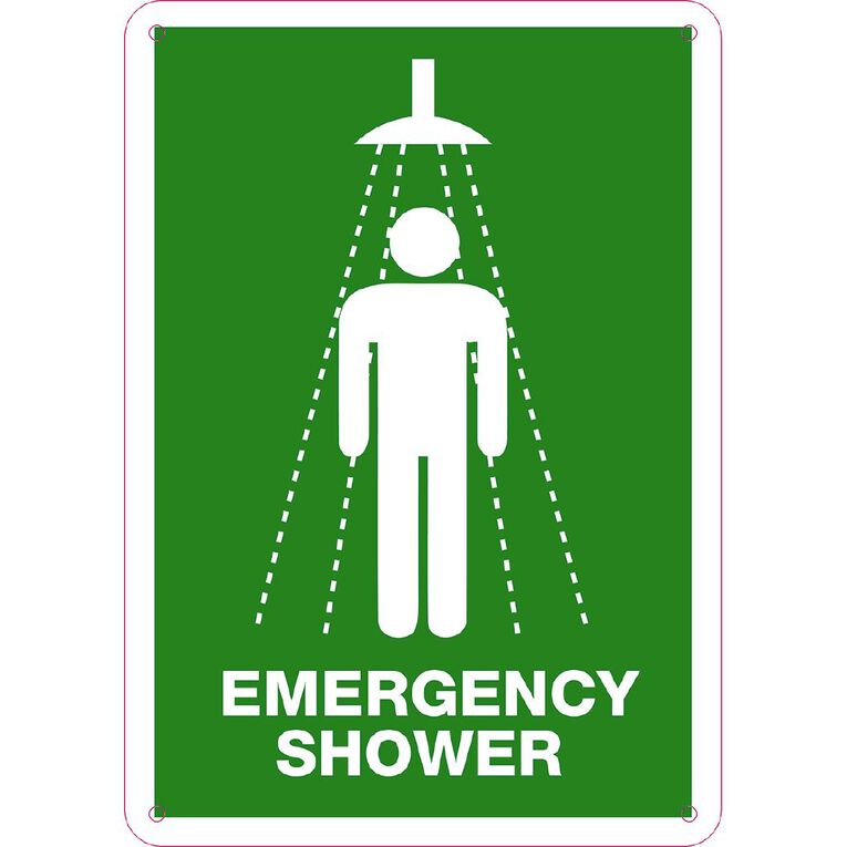 WS Emergency Shower Sign Small 340mm x 240mm, , hi-res