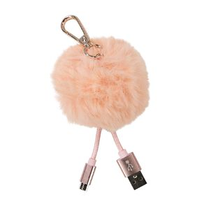 Conservatory Micro USB Pom-Pom Cable Pink