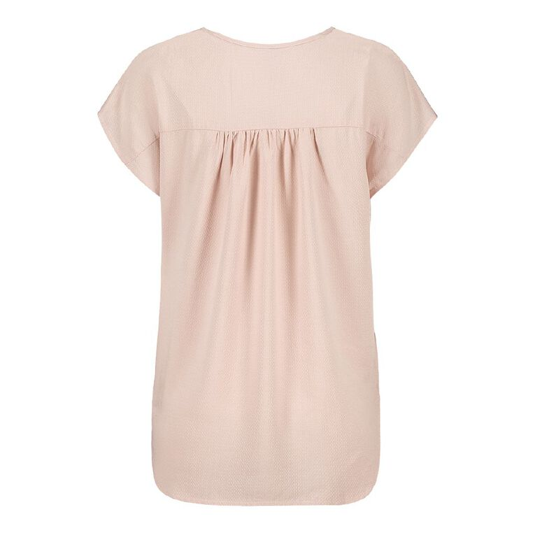 H&H Women's Tuck Front Shell Top, Pink Light, hi-res image number null