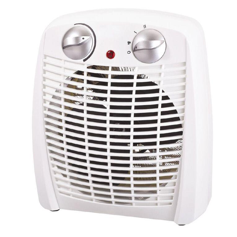 Living & Co Fan Heater White 2000W, , hi-res