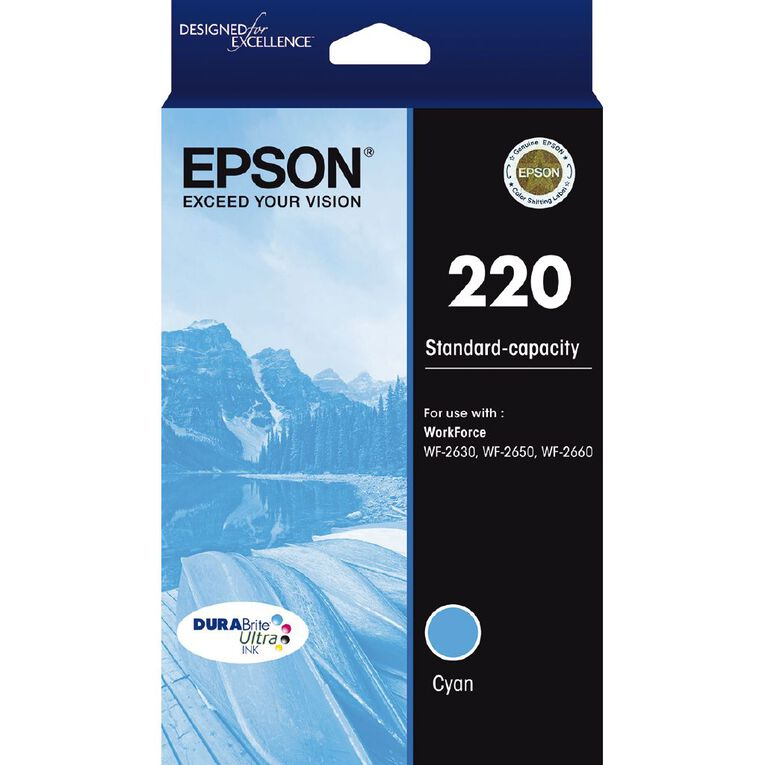 Epson Ink 220 Cyan (165 Pages), , hi-res