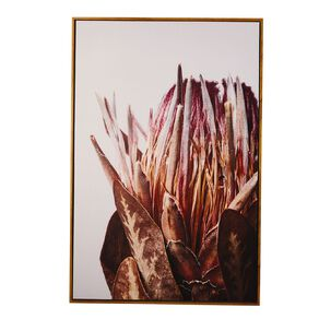 Living & Co Winter Protea Framed Canvas 60 x 90 x 3.5cm