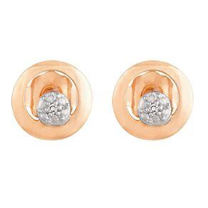 0.01 Carat Diamond 9ct Gold  2 Stud Earrings