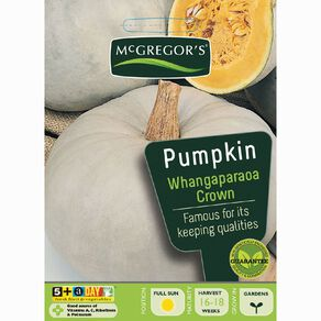 McGregor's Whangaparaoa Crown Pumpkin Vegetable Seeds