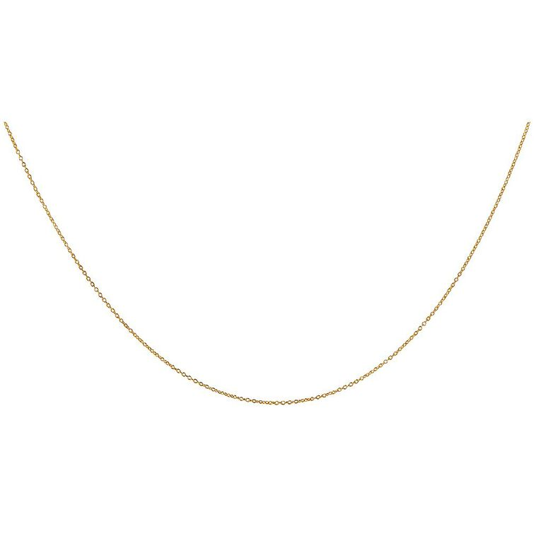9ct Gold Pendant Chain, Yellow Gold, hi-res