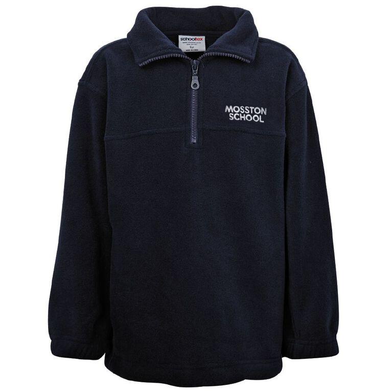 Schooltex Mosston 1/4 Zip Polar Fleece Top with Embroidery, Navy, hi-res