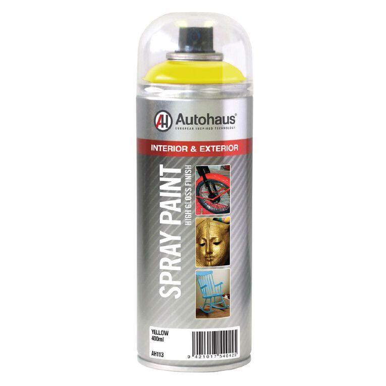 Autohaus Spray Paint Yellow 400ml, , hi-res