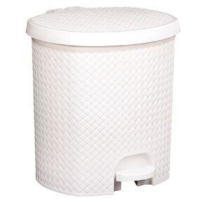 Living & Co Rubbish Bin with Pedal White 6.5L