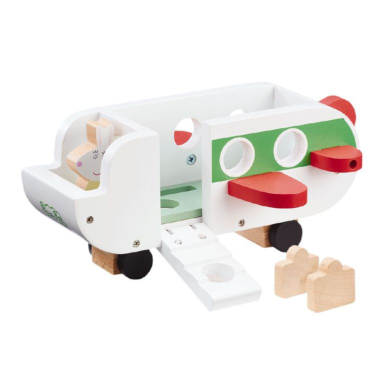 Peppa Pig Wooden Plane and Figures, , hi-res