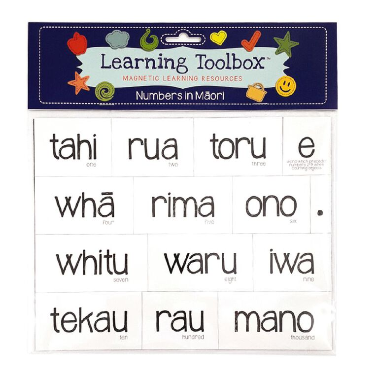 Learning Tool Box Magnetic NZ Maori Numbers Assorted, , hi-res