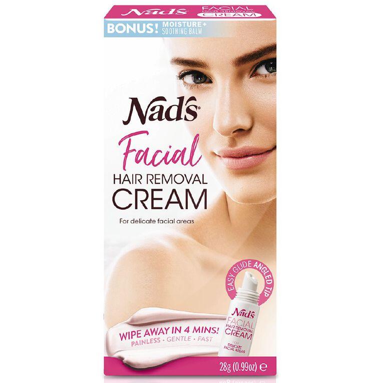 Nads Facial Hair Removal Cream Sensitive 28g, , hi-res