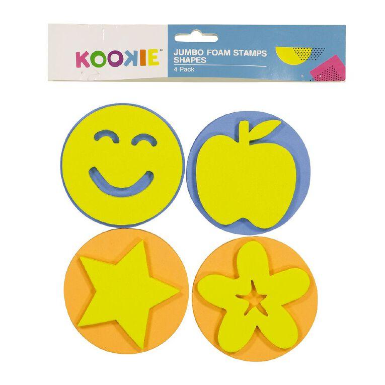 Kookie Jumbo Foam Stamps 4pk Shapes, , hi-res