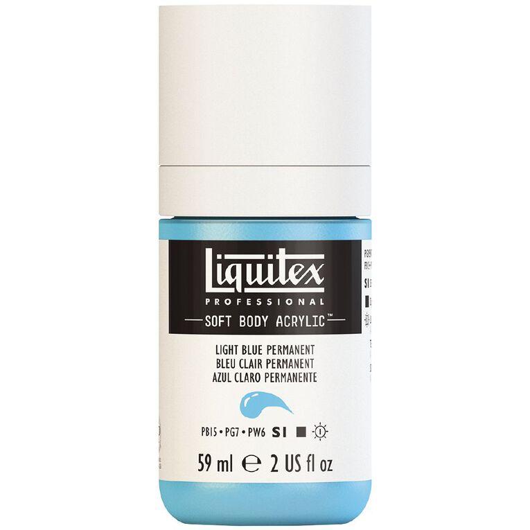 Liquitex Soft Body Acrylic 59ml Light Blue S1, , hi-res