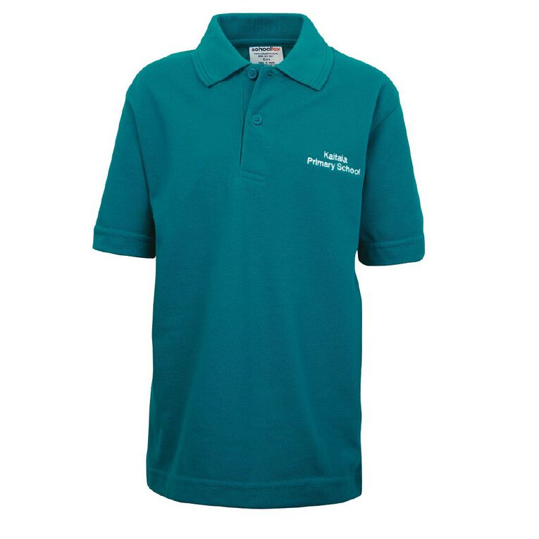 Schooltex Kaitaia Prim Short Sleeve Polo with Embroidery, Jade, hi-res